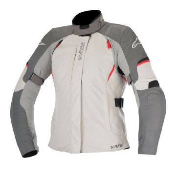 Alpinestars Stella Ares Gore-Tex Waterproof Motorcycle Motorbike Jacket Grey Red